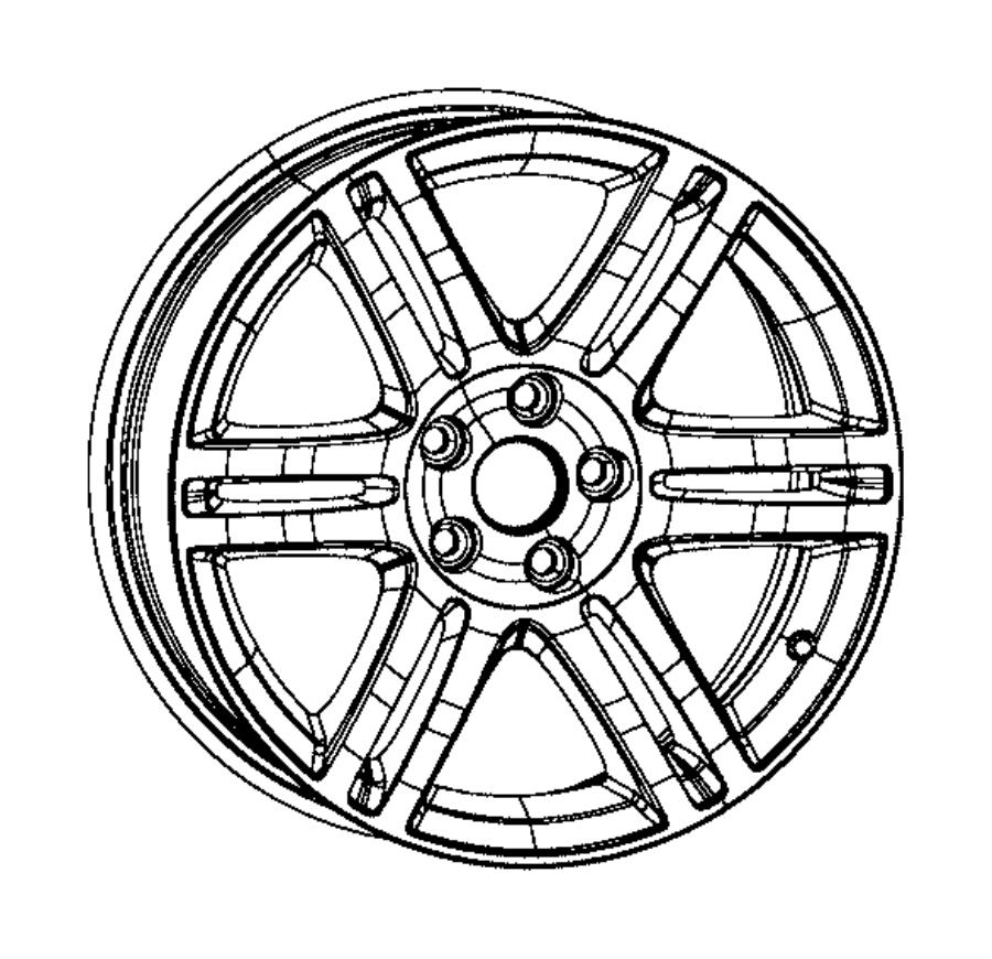 2014 dodge charger wheel  aluminum  front or rear   18x8 0 aluminum wheels   color   no