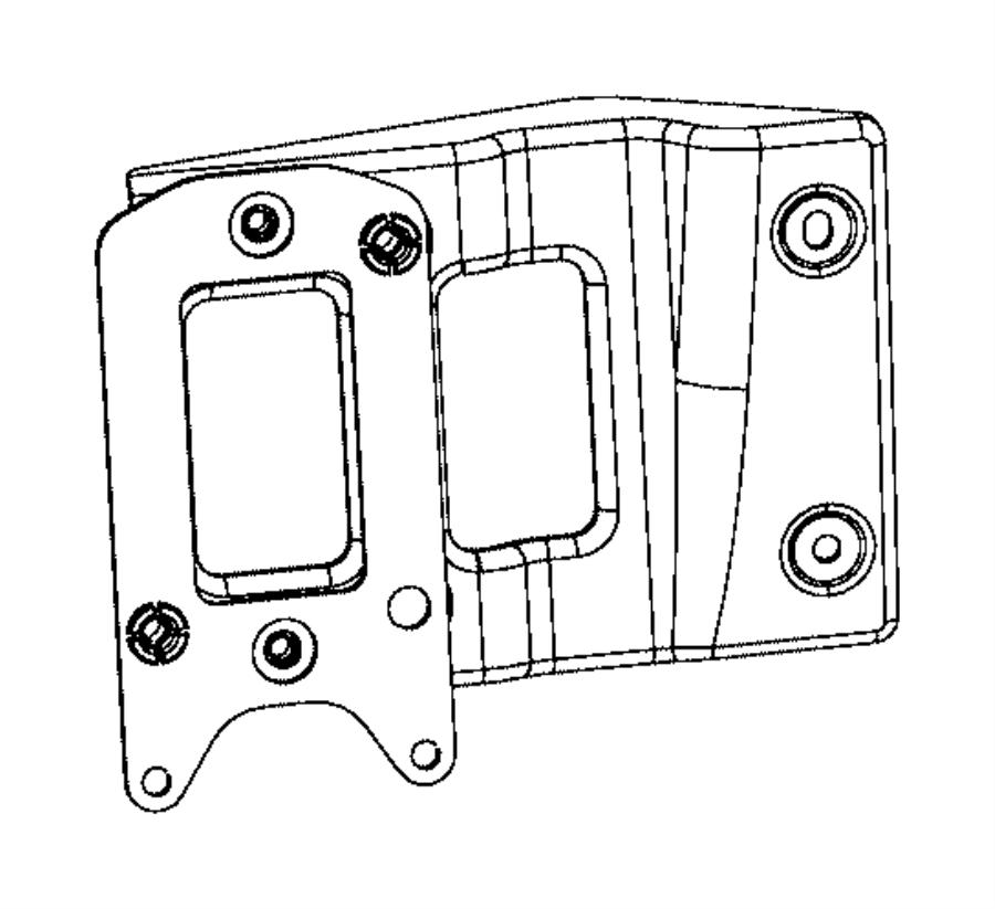 2016 chrysler 200 bracket kit  adaptive cruise control