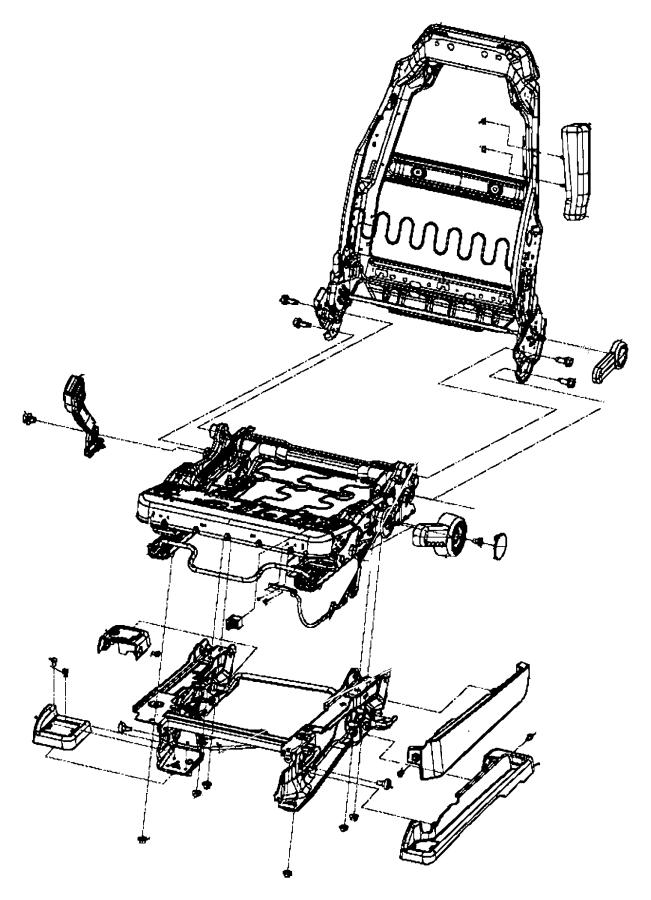 2015 Jeep Wrangler Frame Front Seat Back Export Trim