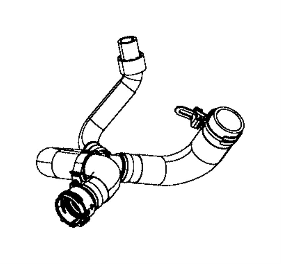 2015 chrysler 200 hose  radiator outlet  maintenance  cooling