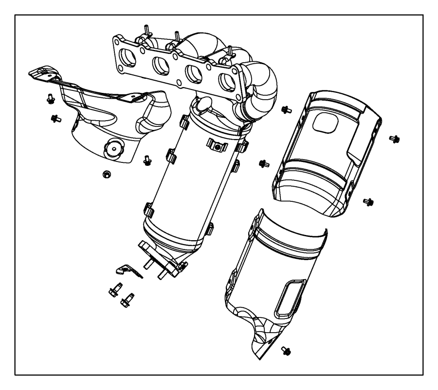 2015 dodge dart shield  exhaust  front pipe or converter