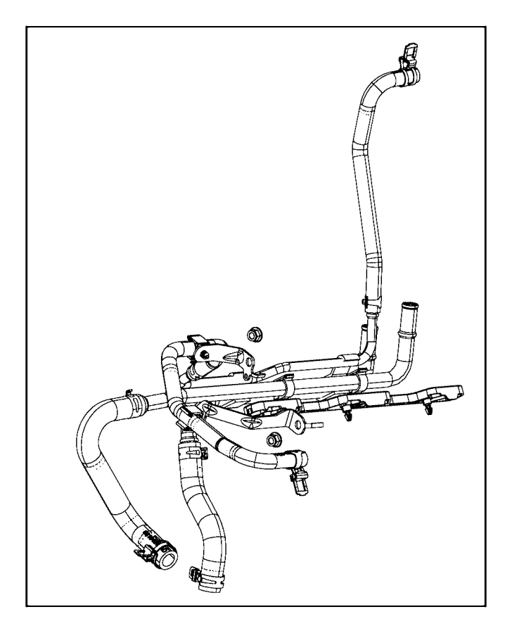 2014 ram 2500 hose  heater supply and return  hoses