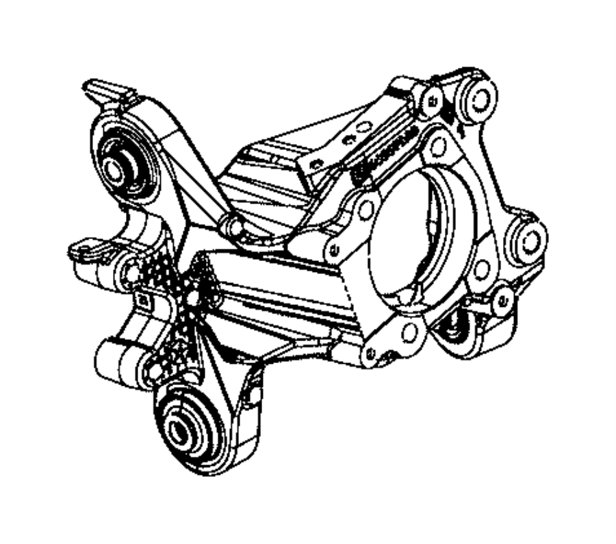 2015 Jeep Cherokee Knuckle  Rear  Right  Suspension
