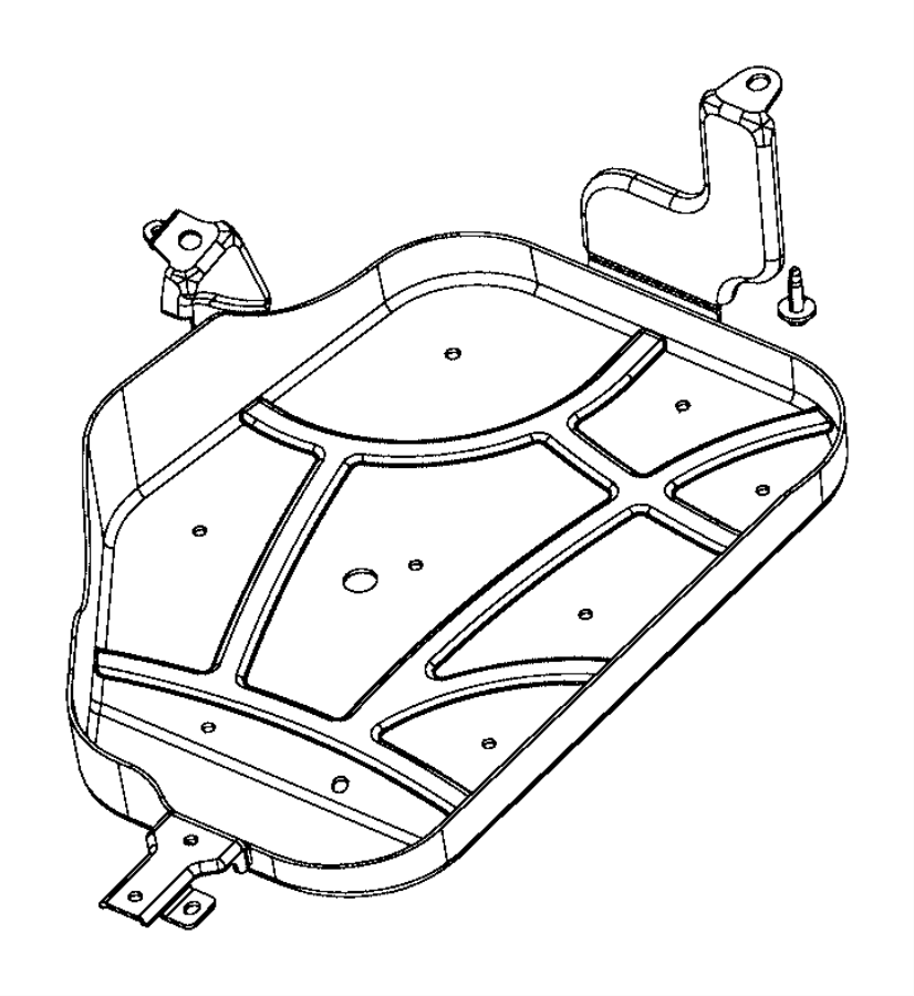 2015 Chrysler 200 Skid Plate. Fuel Tank. Right