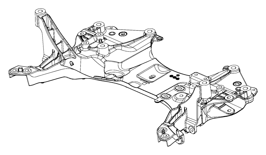 2017 jeep cherokee crossmember  front suspension