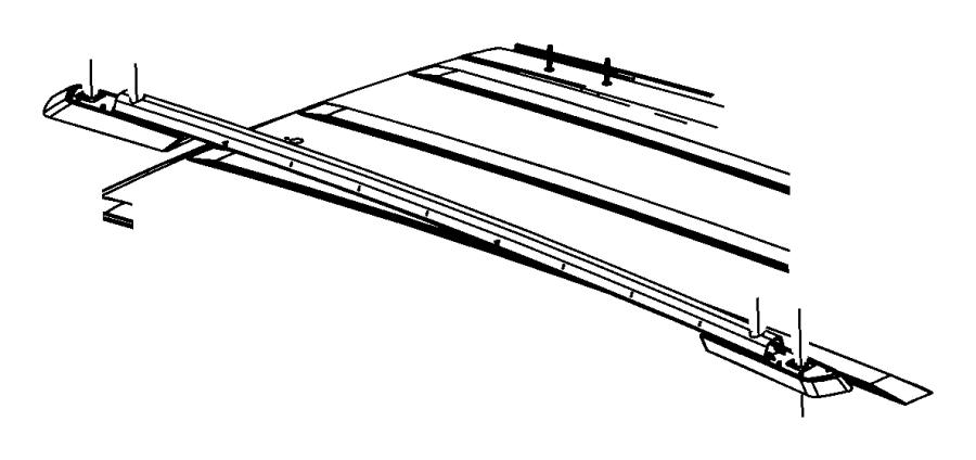 2016 Dodge Journey Rail Roof Left Platinum Side Roof