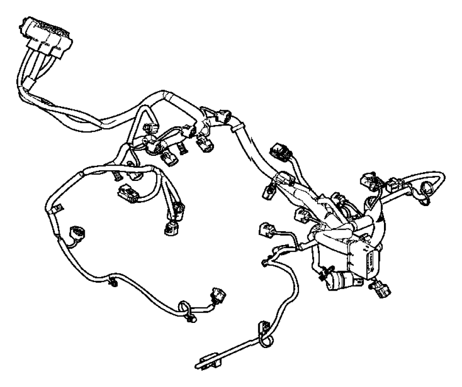 2015 Dodge Durango Wiring Engine Powertrain Mopar
