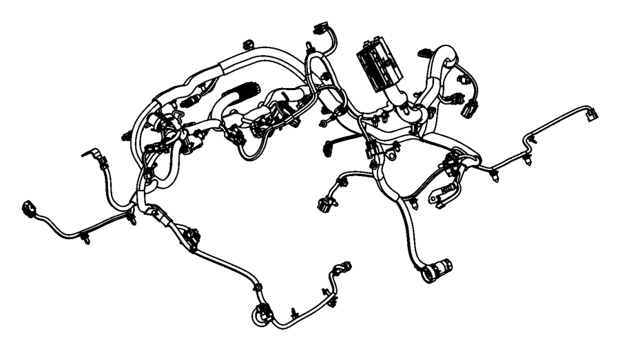 2015 jeep wrangler wiring  engine   complete chassis parts