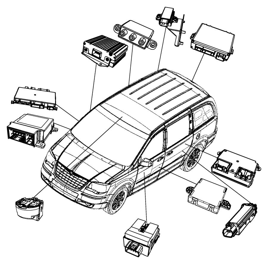 2014 Dodge Grand Caravan Module Sliding Door Actuator