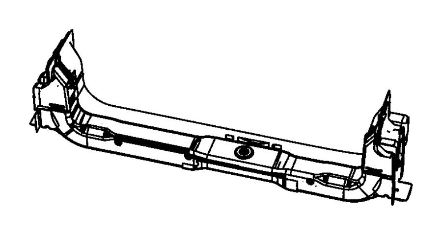 2014 dodge grand caravan crossmember  radiator