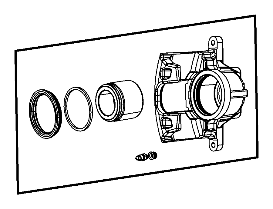 2014 ram c  v used for  piston and seal kit  disc brake  left  right