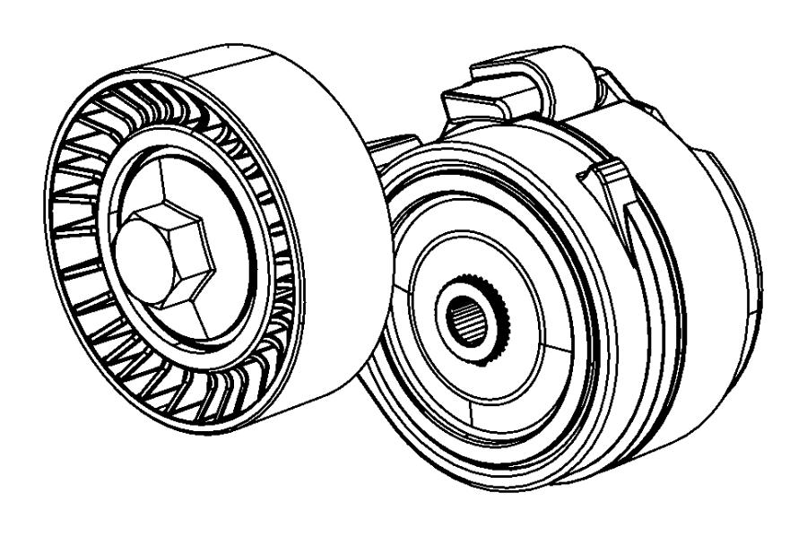 2014 dodge dart tensioner  belt  module  maintenance