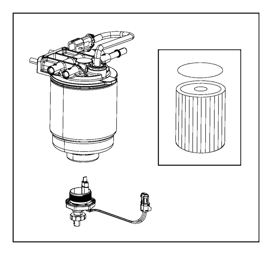2014 ram 5500 filter kit  fuel  water separator  gasket