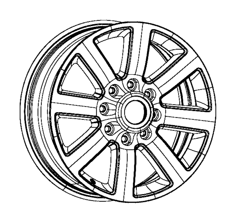 2014 ram 2500 wheel  aluminum  front or rear  color