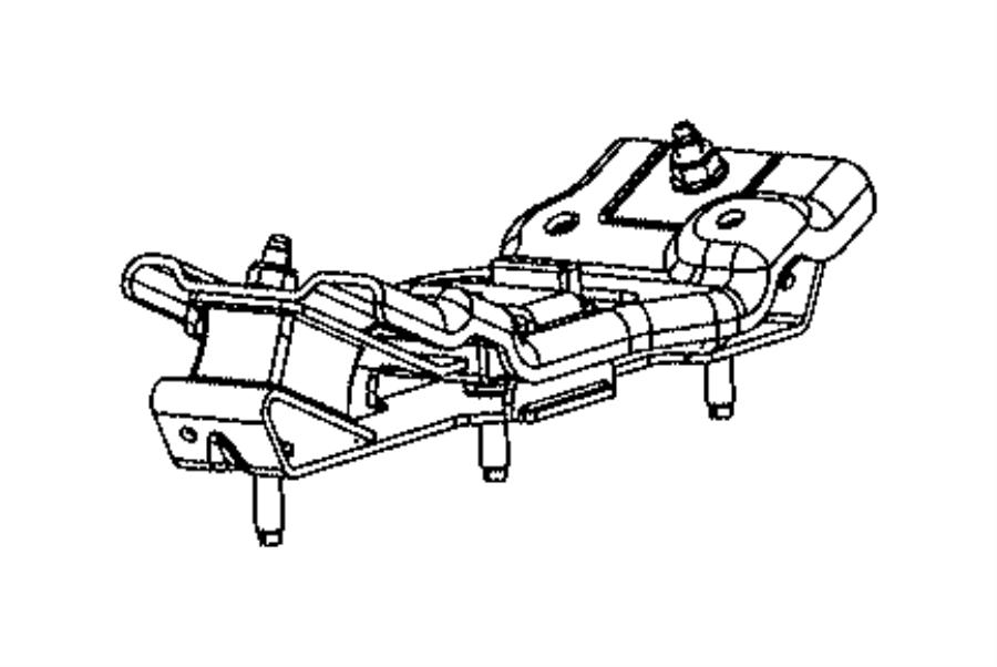 2015 ram 5500 isolator  transmission mount