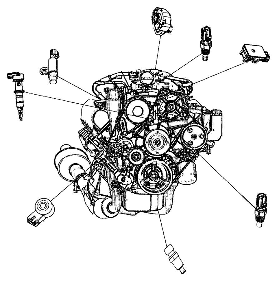 2010 Dodge Ram 2500 Sensor Camshaft Sensors Engine Gas