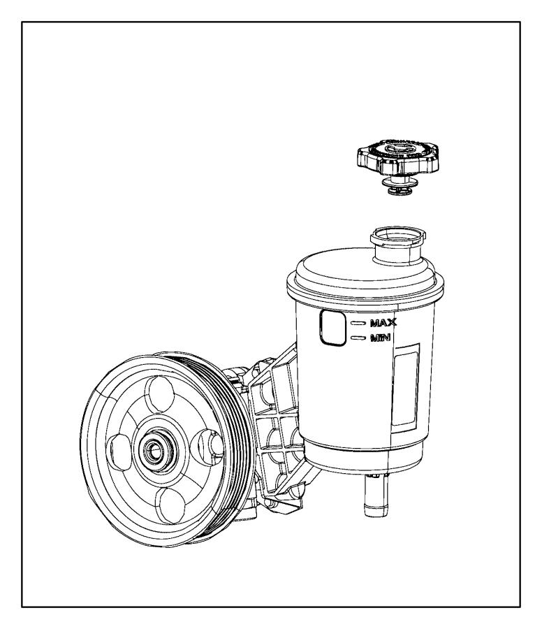 2012 dodge ram 1500 pump  power steering  reservoir