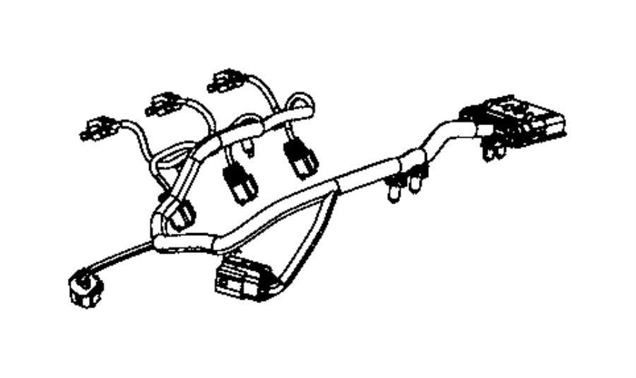 2013 Jeep Wrangler Wiring  Injector  Powertrain  Mopar  Engine  Electrical