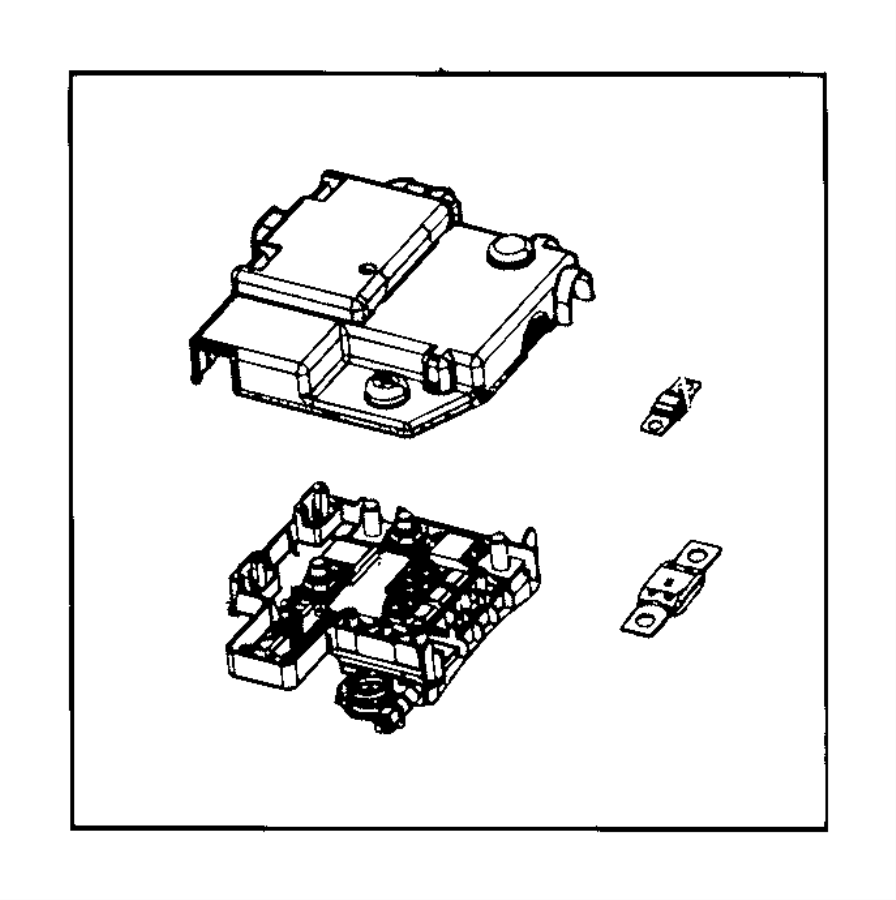 ram 3500 block  fuse  interface  battery  connectors