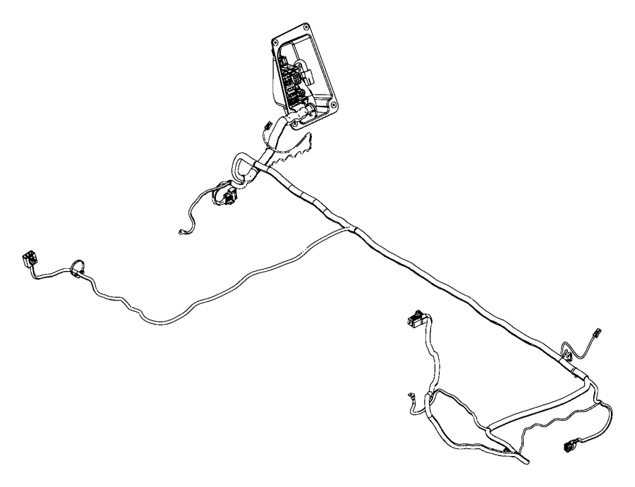 2014 ram 1500 wiring  body  interior  seat  rear  interface