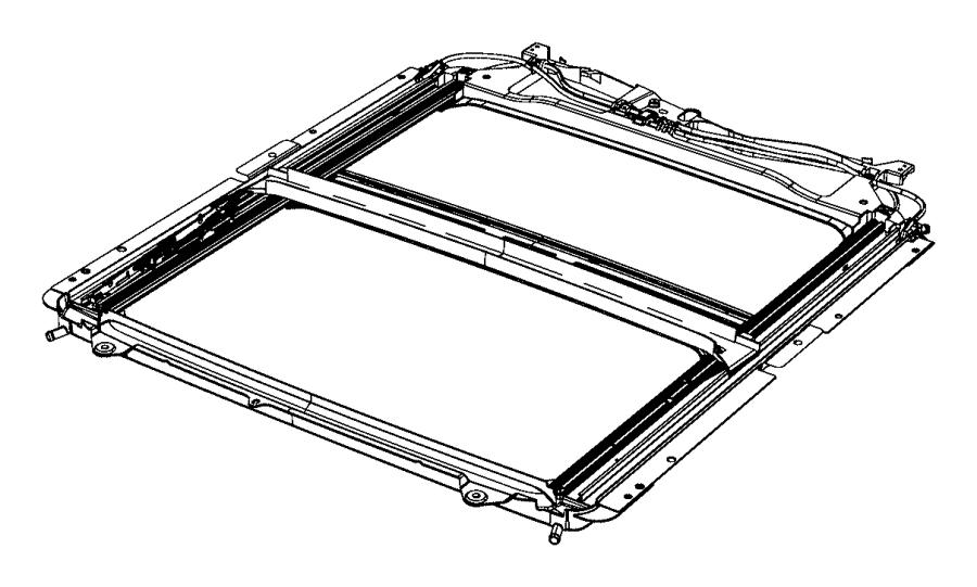 2015 ram 2500 tube  sunroof drain  left  power  mopar  glass  component  body