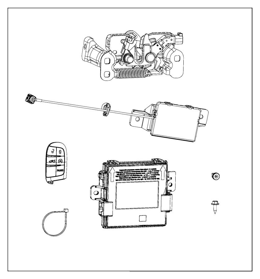 2016 chrysler 200 transmitter  integrated key fob   remote start system    4 additional key