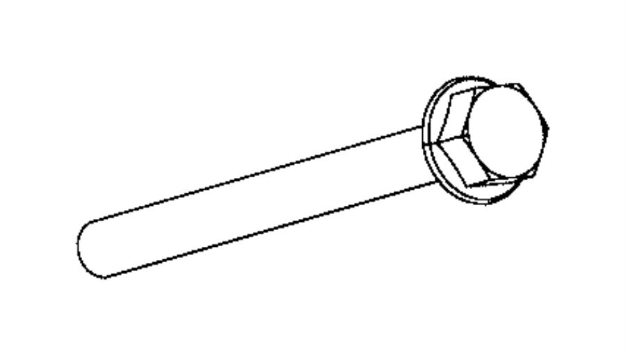 2014 ram 1500 bolt  hex flange head  export  trim   no