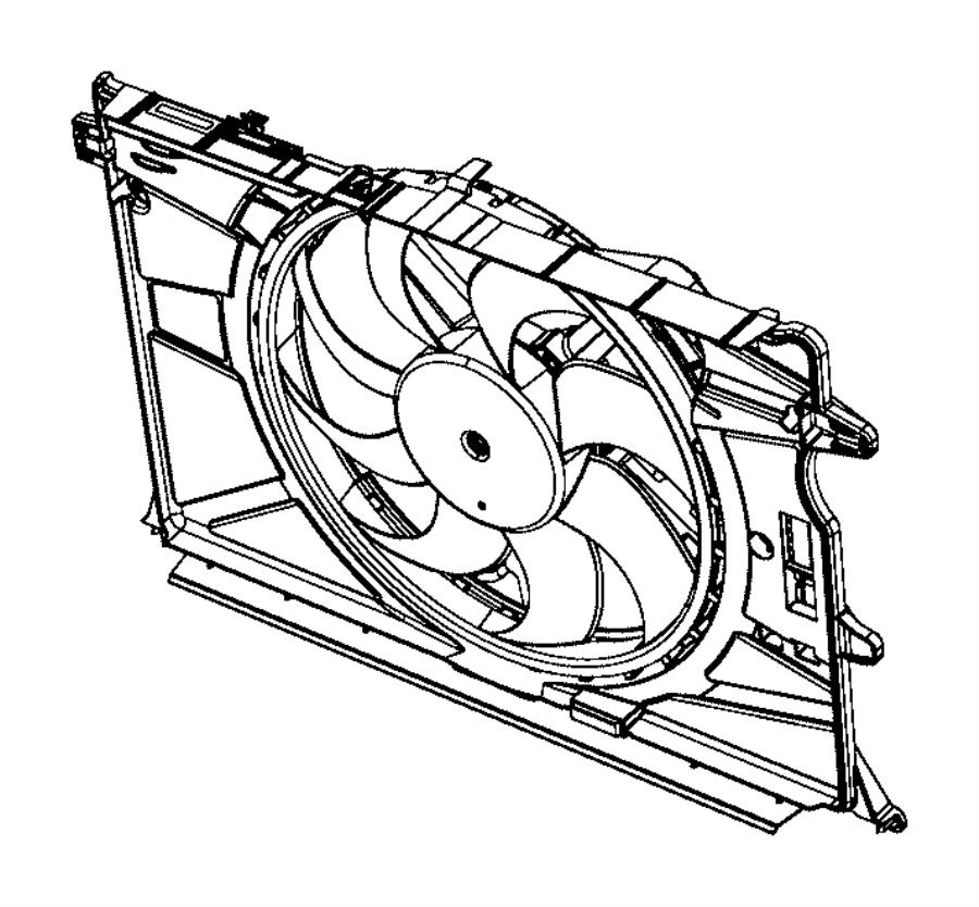 2017 jeep renegade fan module  radiator cooling  export