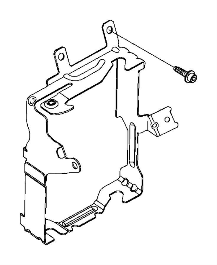 2015 jeep renegade bracket  body control module  export