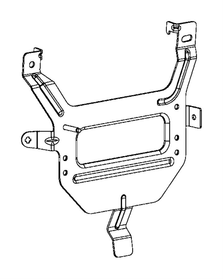 2016 jeep cherokee bracket  engine control module  export