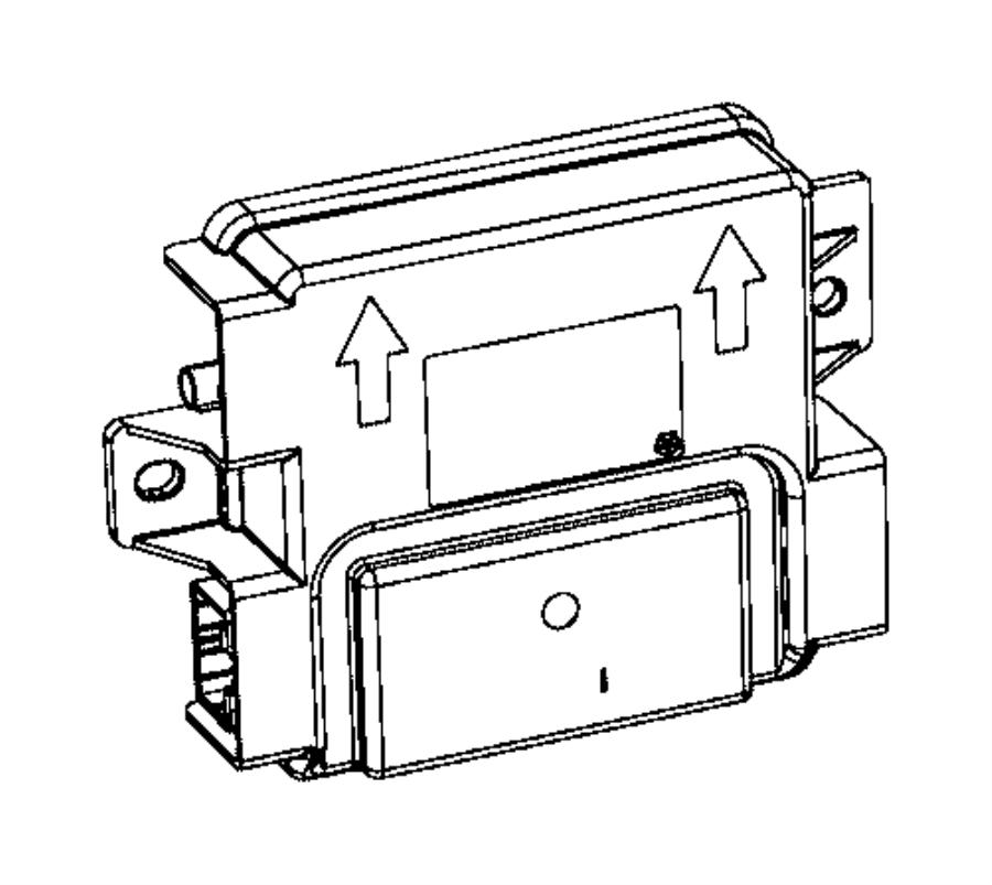 chrysler 200 receiver  hub  remote  start  system
