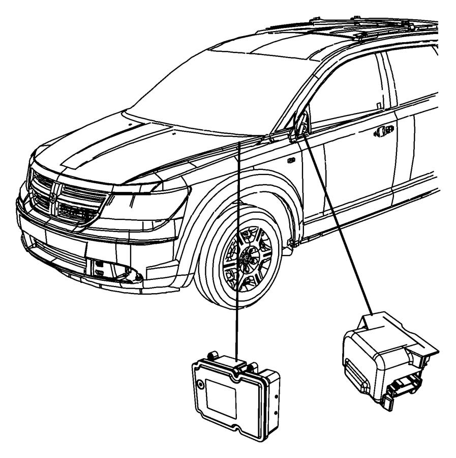 dodge journey module  anti-lock brake system   electronic stability control    hill