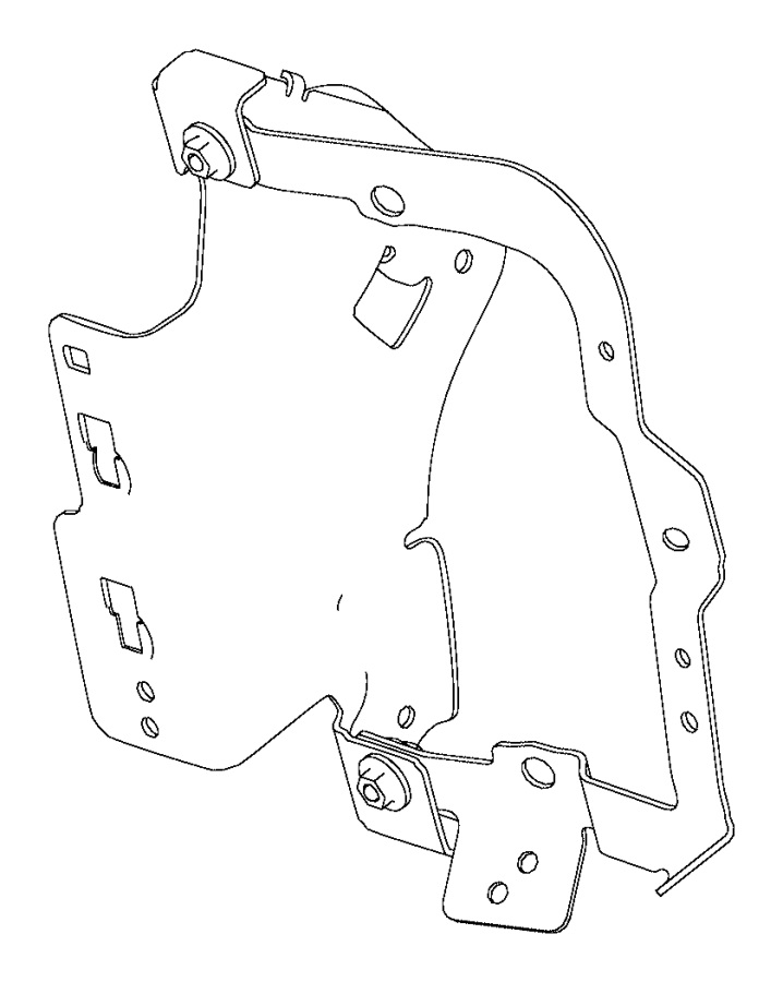 2015 dodge dart bracket  body control module
