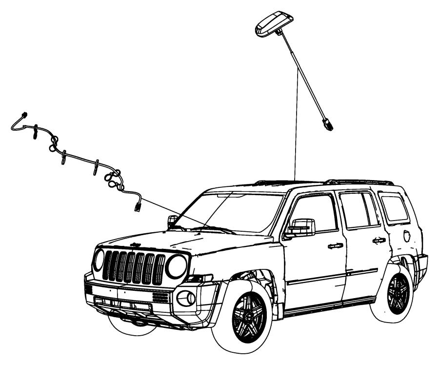 2017 jeep patriot wiring  satellite digital audio  overlay