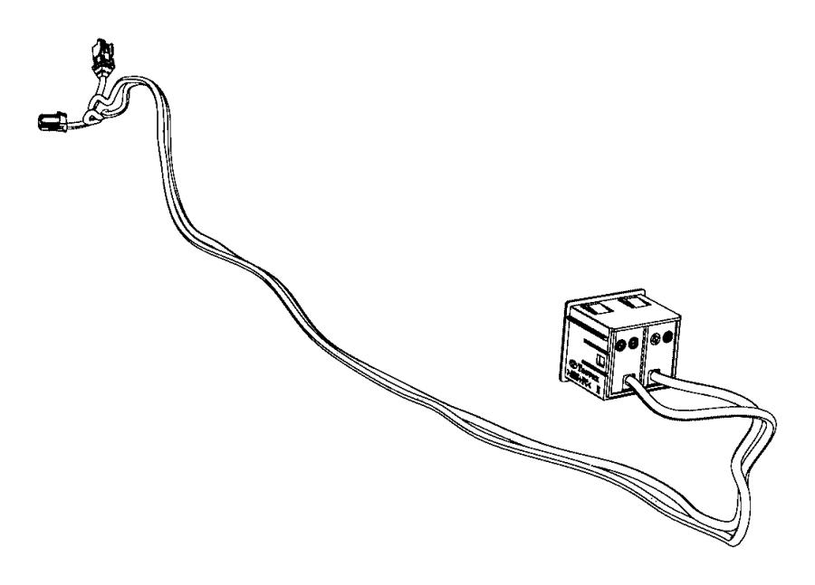 dodge dart cable  usb auxiliary port  module  console  center