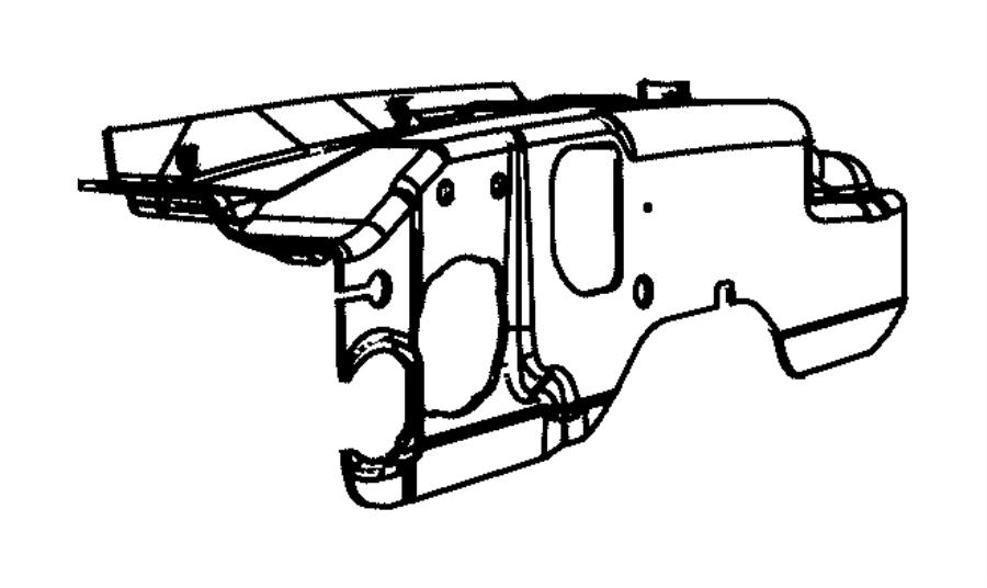 2013 chrysler town  u0026 country silencer  dash panel  engine