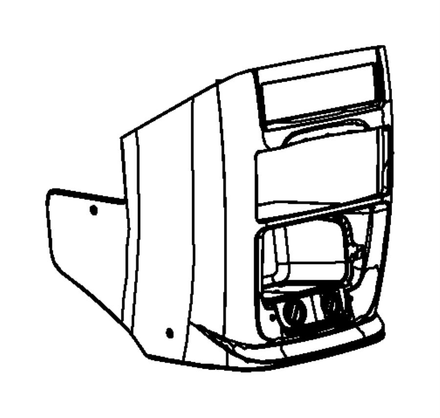 2014 ram c  v cover  instrument panel brace   black  sandstorm    xu   trim   no