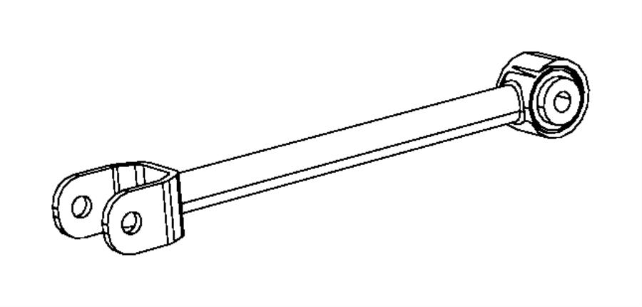 2011 dodge avenger link assembly  camber  suspension  rear