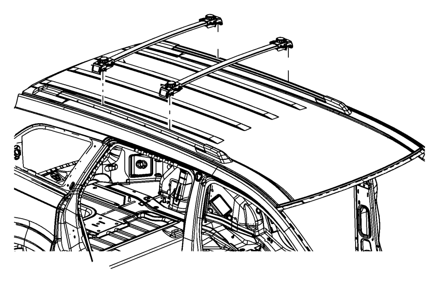 2016 dodge journey rail  lugg rack cross  front  right   adjustable roof rail crossbars