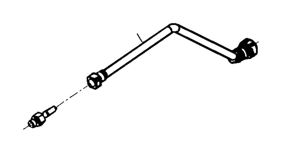 dodge ram 2500 connector  fuel line