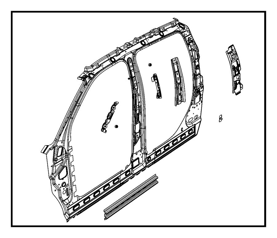 2017 ram 5500 bracket  grab handle  left  panel  aperture