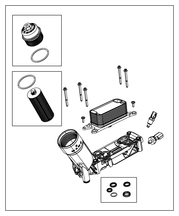 2014 jeep grand cherokee adapter  engine oil filter
