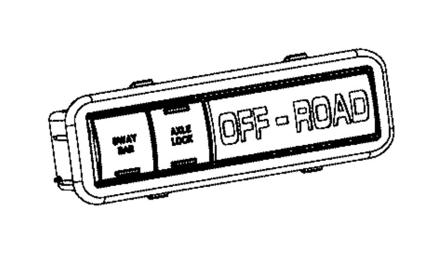 2015 jeep wrangler switch  instrument panel  axle  rear  module