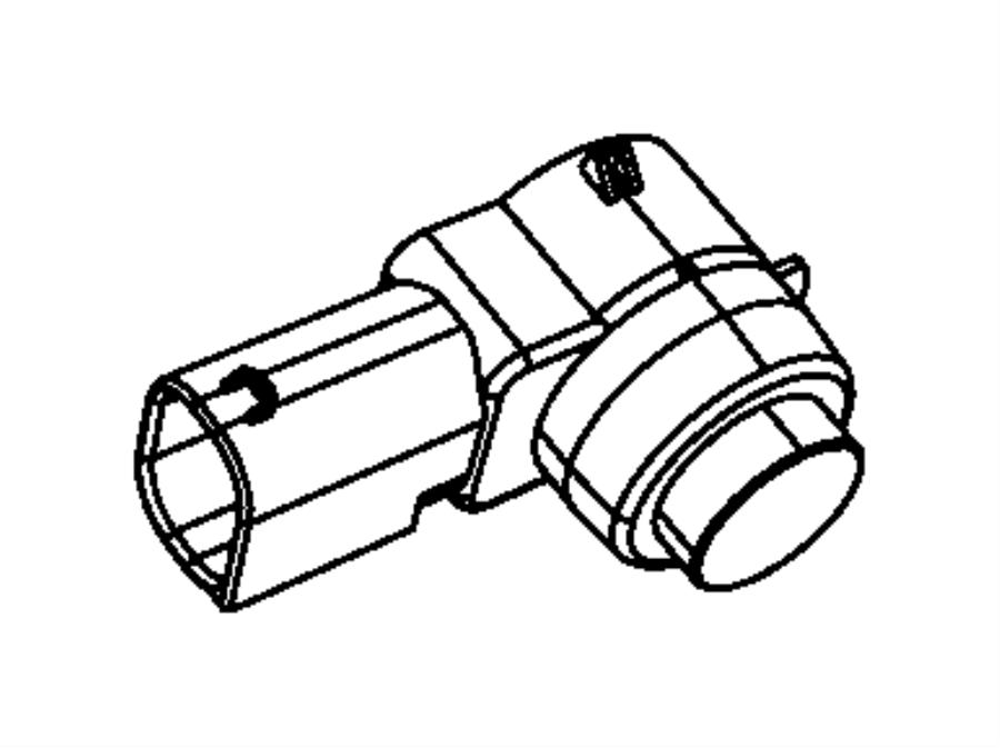 Fiat 500X Sensor. Park Assist. Export. Rear, Fascias