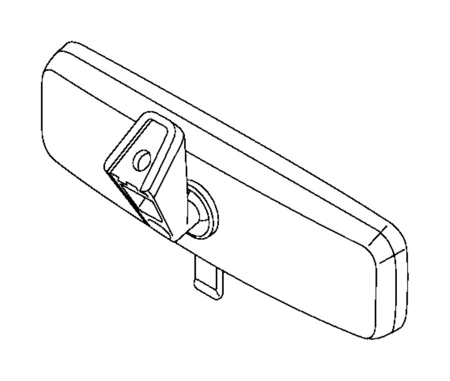 2017 ram promaster city wagon mirror  inside rear view