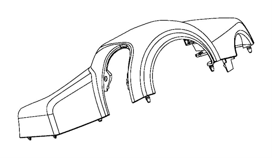 2017 ram promaster city wagon slt shroud  steering column