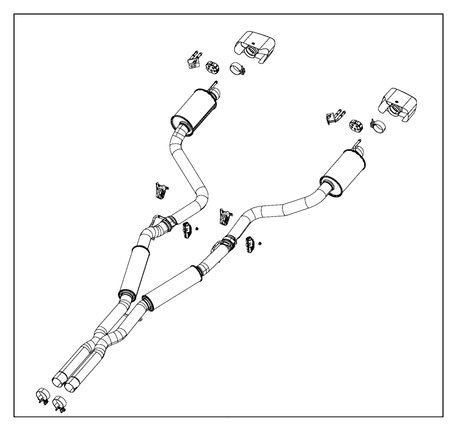 2017 dodge charger bracket  exhaust  left  system  esg