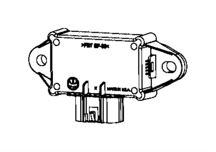 2017 chrysler pacifica module  fuel pump control  body