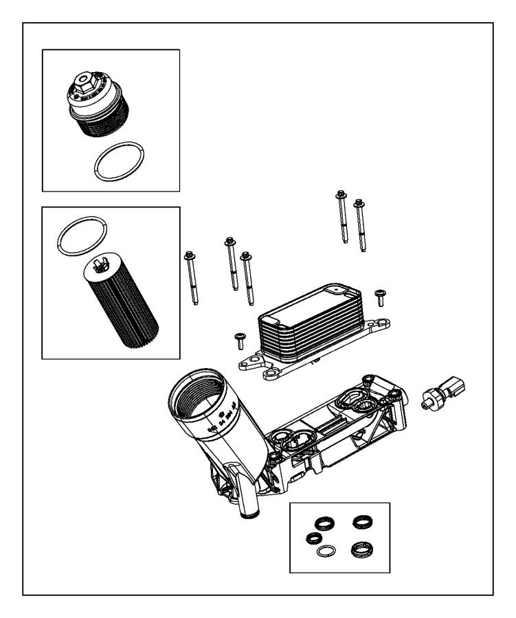 2017 chrysler pacifica adapter  engine oil filter
