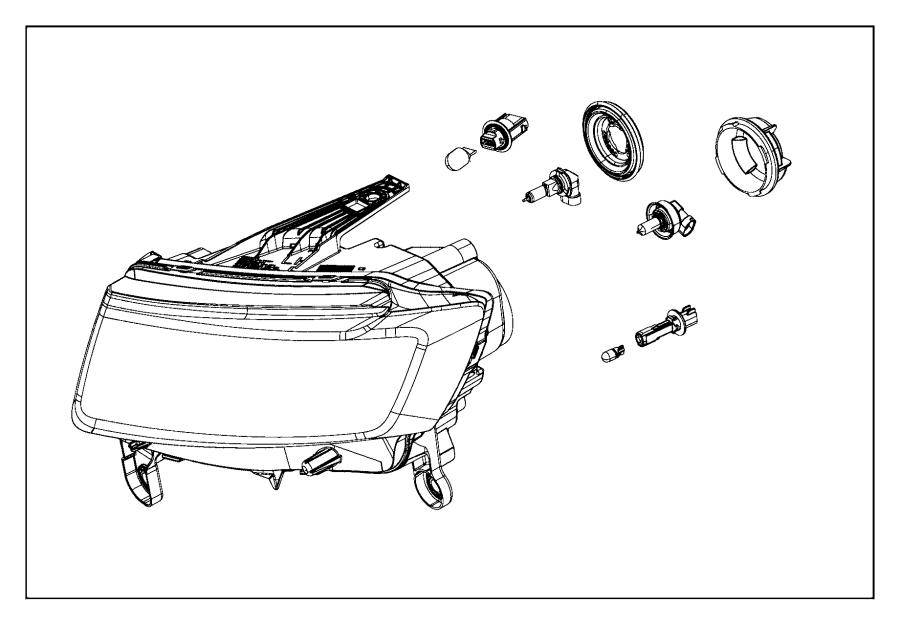 2016 Jeep Grand Cherokee Headlamp  Left  Headlamps  Halogen  Front